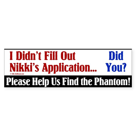 Help Us Find the Phantom for Nikki Haley Bumper St