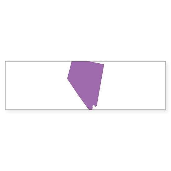 Nevada State Shape Outline Sticker Bumper By Carolinaswagger Cafepress