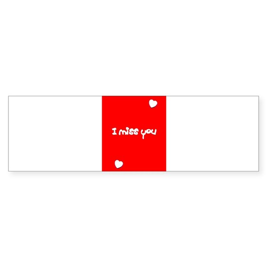 I Miss You Heart Valentines Red 4Jimmy