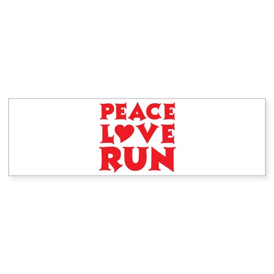 peace love run red