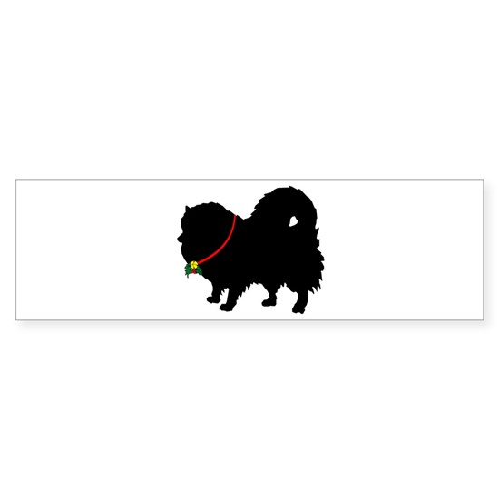 Pomeranian Christmas or Holiday Silhouette