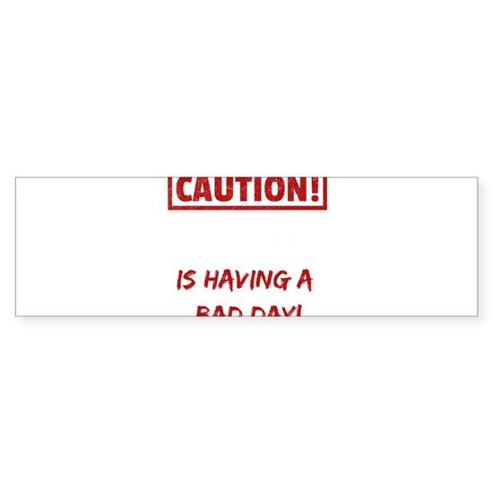 Caution Aaron is having a bad day Funny gift idea