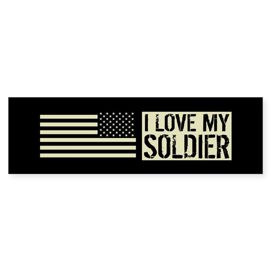 U.S. Army: I Love My Soldier (Black Flag)