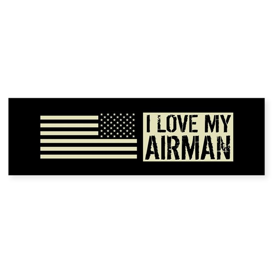 U.S. Air Force: I Love My Airman (Black Flag)