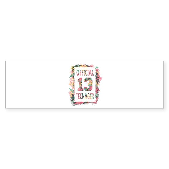 Official 13 Teenager Floral 13th Birthday Gift for
