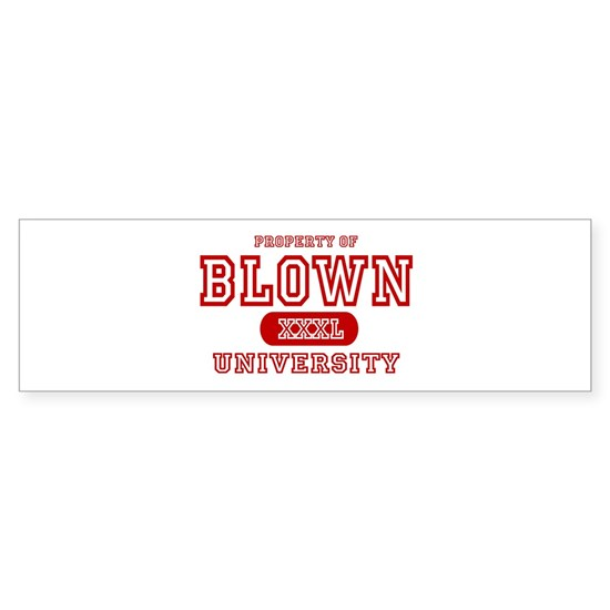 property university red blown for white T