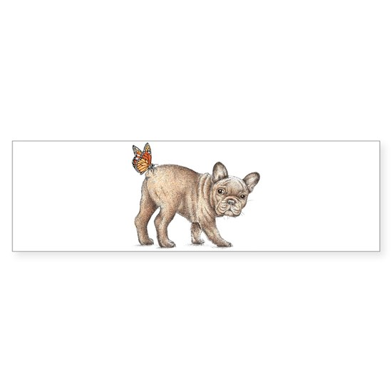 French bulldog & butterfly