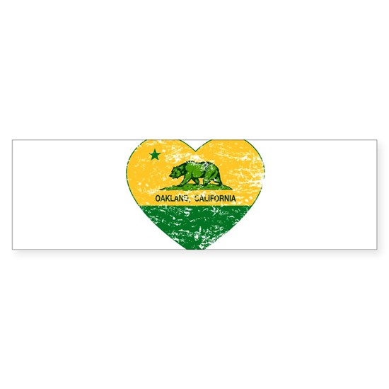 Oakland California green and yellow heart