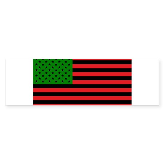 African American Flag - Red Black and Green