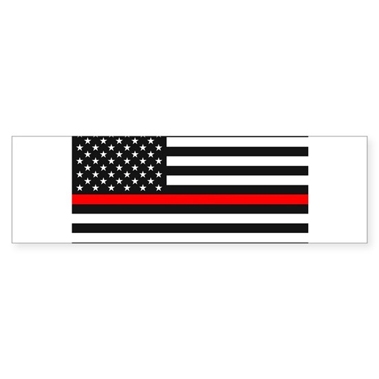 Thin Red Line - American United States USA Flag