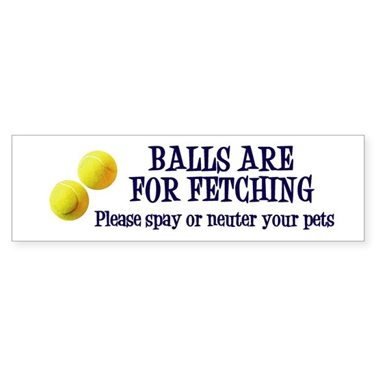 Balls are for fetching sticker