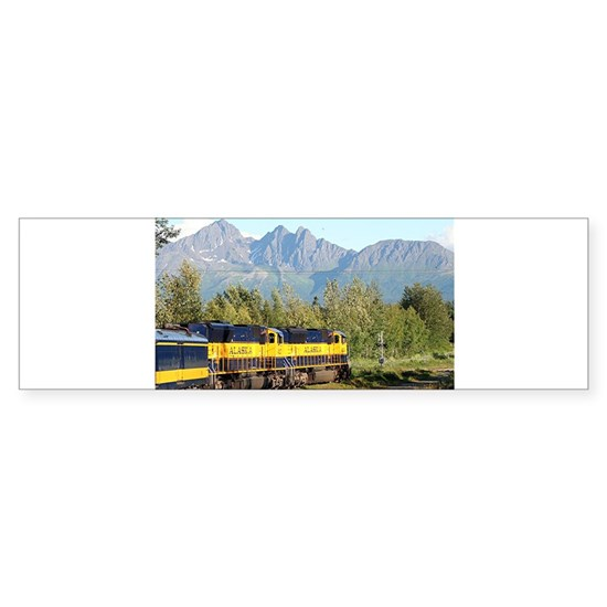 Alaska Railroad locomotive train engine & mountain