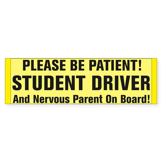 Student Driver And Nervous Parent