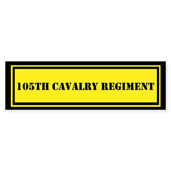 Army-105th-cavalry-regiment Sticker (Bumper) 105th Cavalry