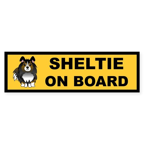 Sheltie On Board (tri color)