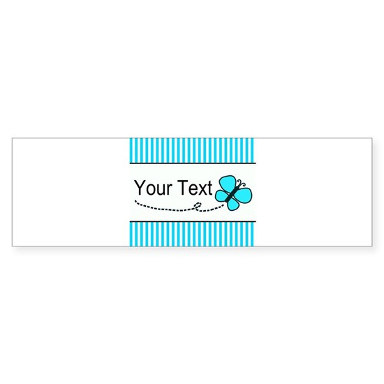 Personalizable Teal Butterfly