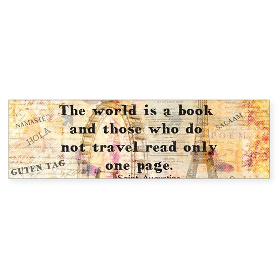 The World is a Book quote