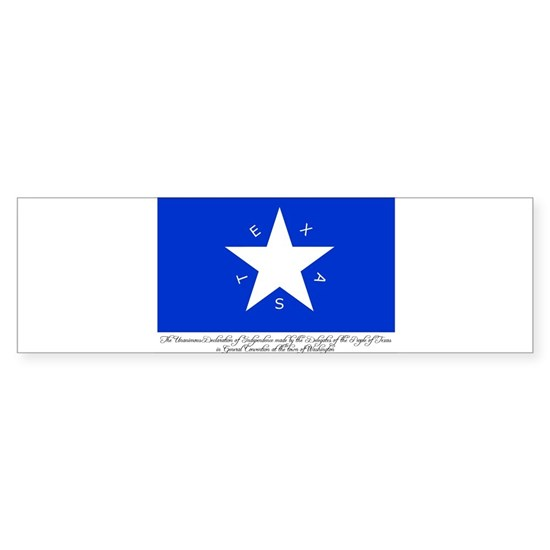 Texas Flag with Declaration