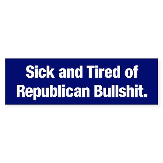 Tired of Republican Bullshit