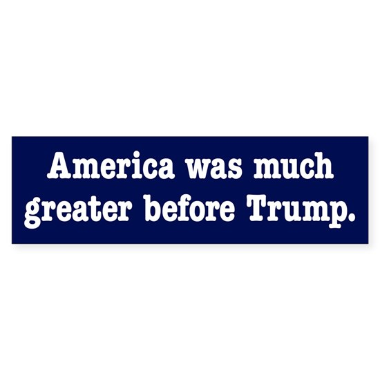 America was greater before Trump