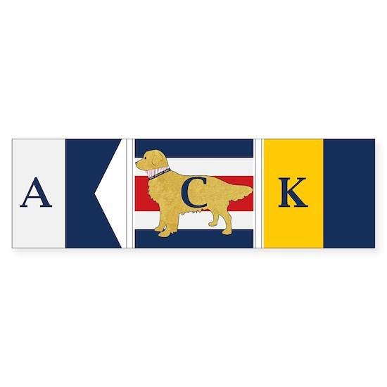 Nantucket Preppy Dog Signal Flag