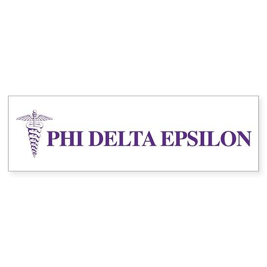 Phi Delta Epsilon Logo Bumper Sticker