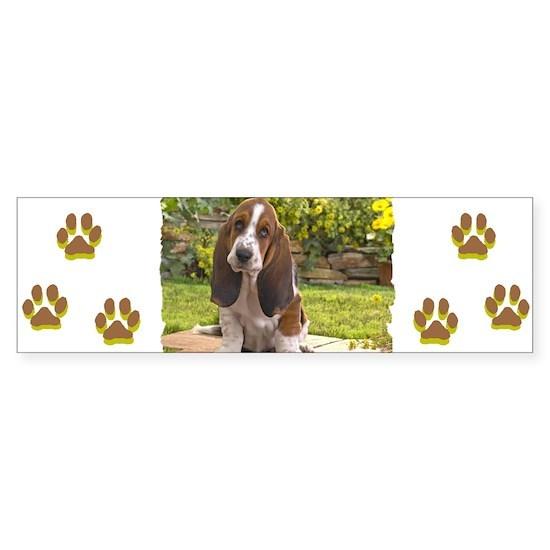 Basset puppy bumper