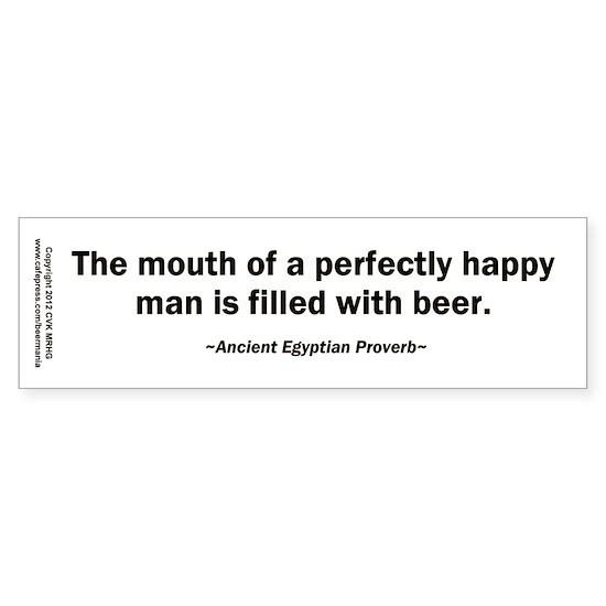 bumper sticker happy man beer
