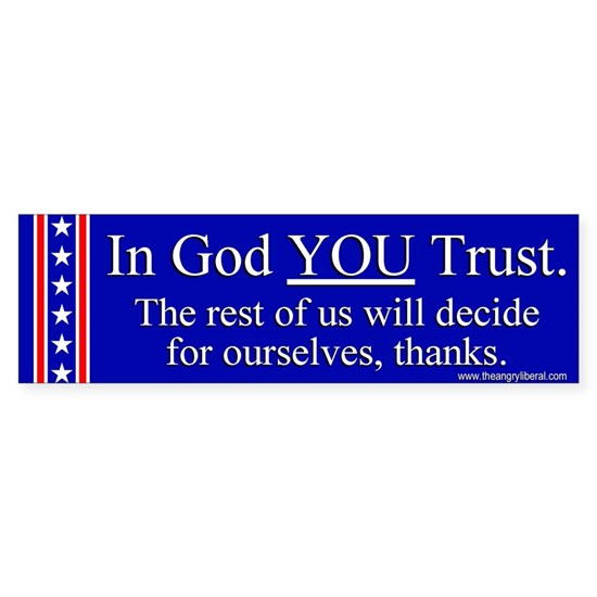 In God You Trust Sticker