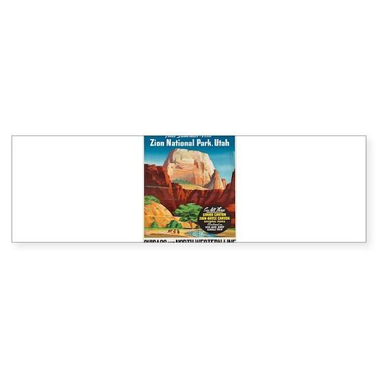 Vintage poster - Zion National Park