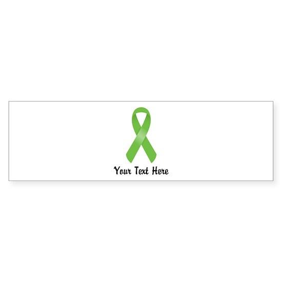Green Awareness Ribbon Customized