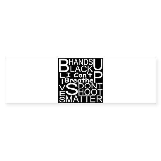 Black Background White Lettering Protest Design 1