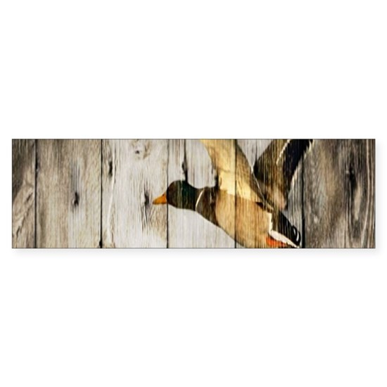 rustic western barnwood duck