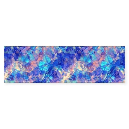 Azure Blue Crumpled Pattern Marble
