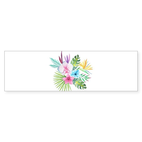 Watercolor Tropical Bouquet 3