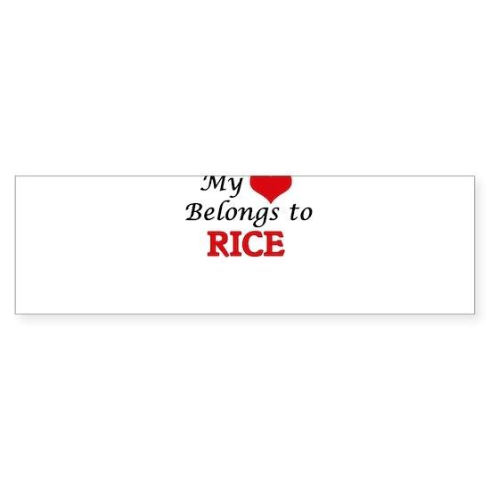 My Heart Belongs to Rice Massachusetts