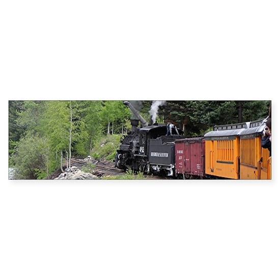 Steam train & river, Colorado