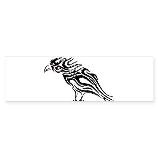Glossy Black Raven Tattoo