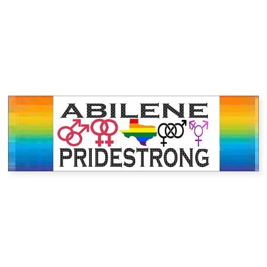 Abilene, Texas PRIDESTRONG Sticker (Bumper) Sticker