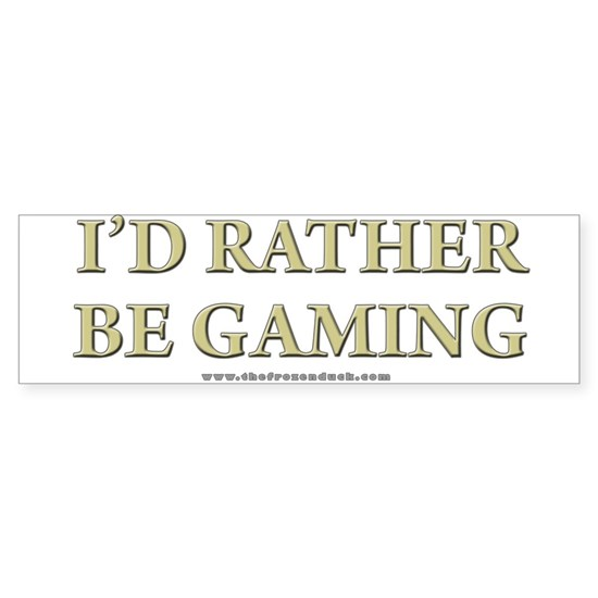 Rather be Gaming - short