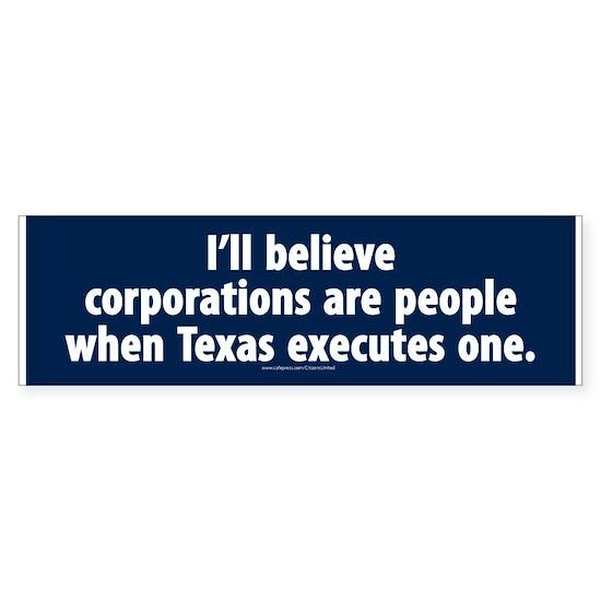 Texas executes a corporation