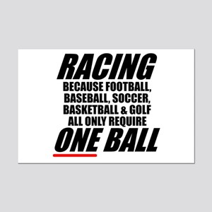 Racing is a real sport Mini Poster Print