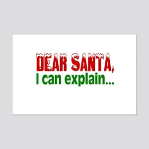 Dear Santa, I Can Explain... Mini Poster Print