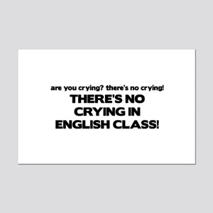 There's No Crying English Class Mini Poster Print