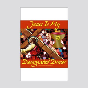 Jesus is my driver Mini Poster Print