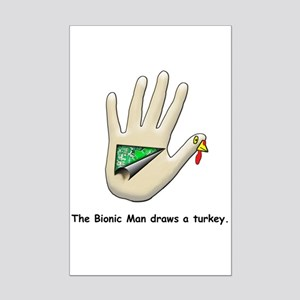 Bionic Turkey Mini Poster Print