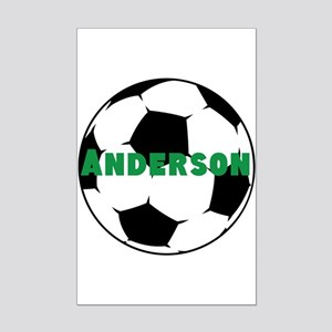 Personalized Soccer Mini Poster Print