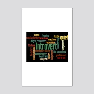 Introvert Strengths Word Cloud 3 Posters