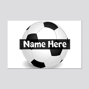 Personalized Soccer Ball Posters Mini Poster Print