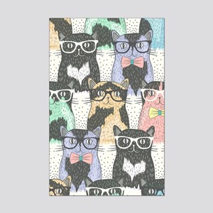 Hipster Cats Mini Poster Print